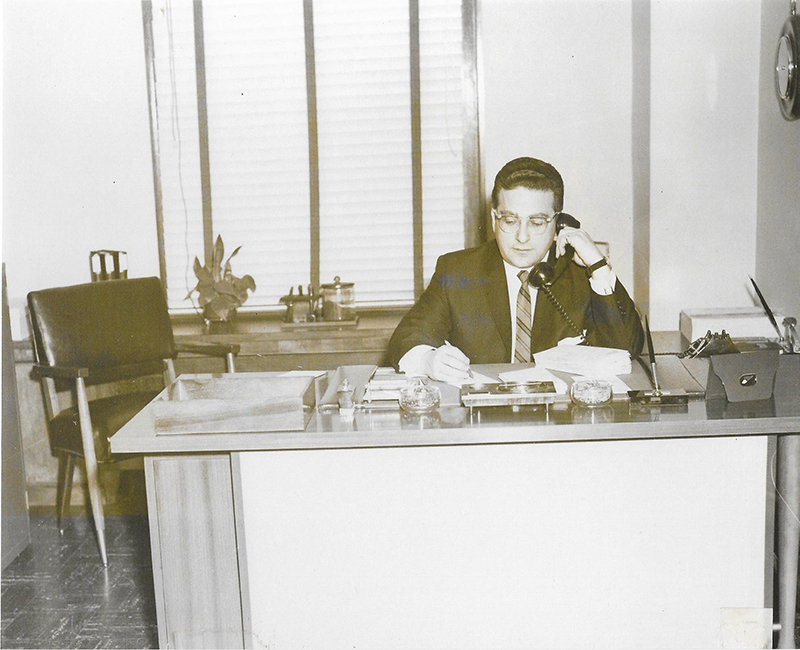 Harry L Jacobs on phone call